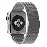 Apple Watch Band 42mm, Stainless Steel Metal Replacement Smart Watch Band Bracelet Milanese Loop Strap Magnetic Buckle, Wrist Band for Apple iWatch