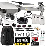 DJI Mavic PRO Platinum UPGRADE PLUS Kit w/ Backpack, Custom Bracket + Mount, Sunshade, 3 Batteries + Thor Charger, Lens Filters & More