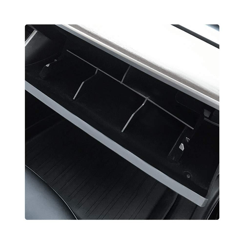 CDEFG Auto Ablage Handschuhfach f/ür Model 3 Mittelarmlehne Handschuhfach Verstauen Aufr/äumen Box Organizer Halter Container Zubeh/ör