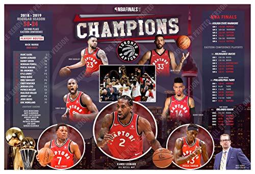 PosterWarehouse2017 Toronto Raptors Win 2019 NBA Title 19
