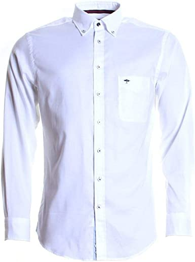 Fynch Hatton Camisa Hombre Blanco M: Amazon.es: Ropa y accesorios