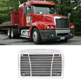 "CDG 1PC Paramount Replacement Chrome Front Mesh Grill Guard Grille Bumper Bugscreen With For 2005 2006 2007 2008 2009 2010 2011 2012 2013 2014 2015 2016 2017 Freightliner Century(Come With ""Freightlin"