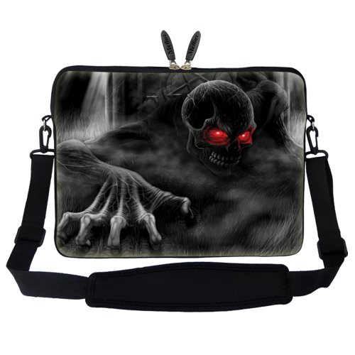 Dark Sleeve Lord Handle Shoulder Strap Computer Neoprene Carrying Adjustable Hidden Portable with Case inch Bag 15 6 and 15 Laptop SUqXXHw