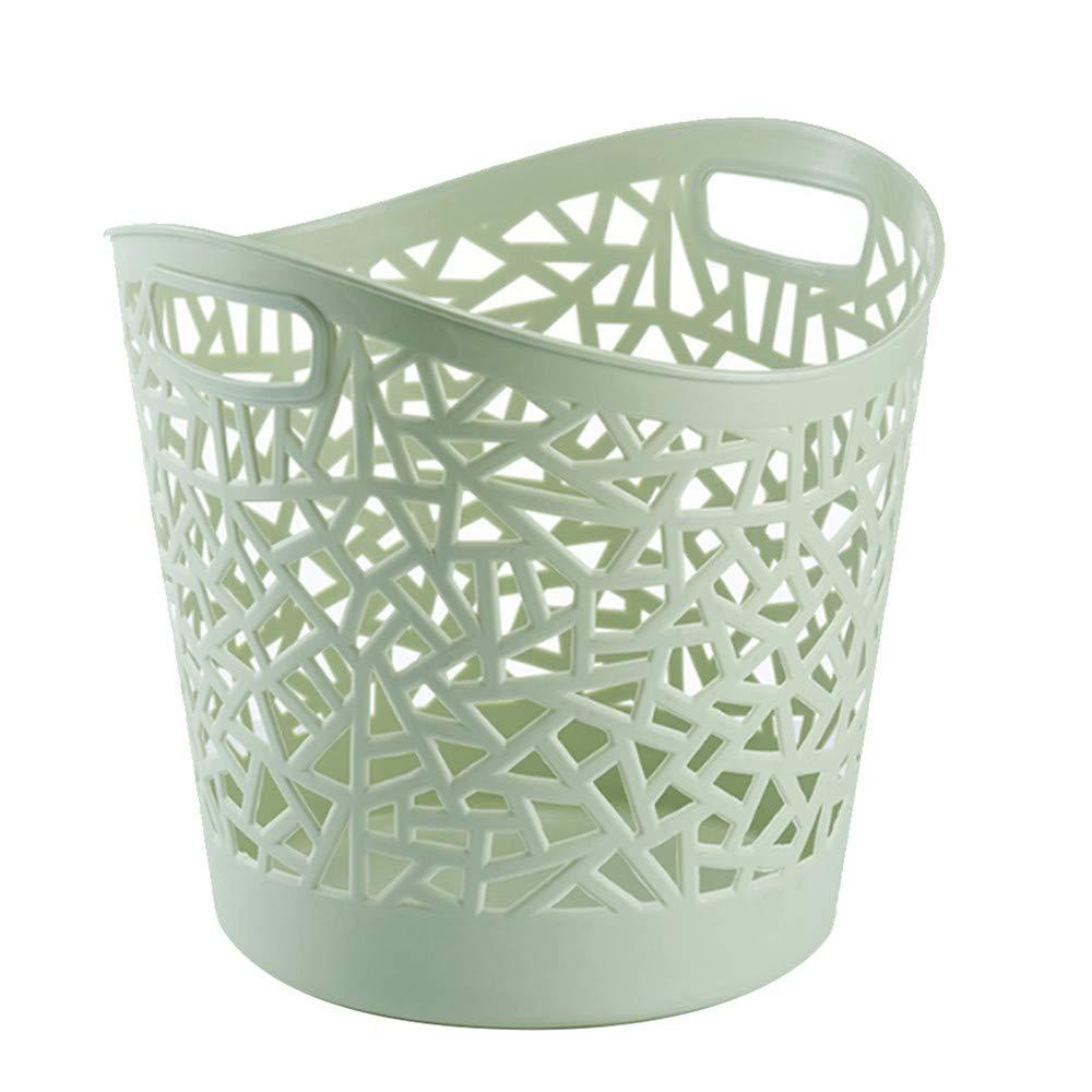 BOOBOOBR Plastic Hollow Laundry Basket Household Storage Clothes Basket