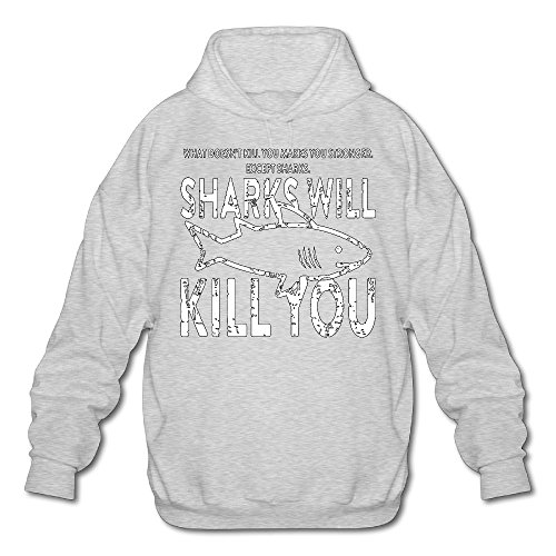 Price comparison product image Sharks Will Kill You Men's Coat, Long Sleeve Hoody For Men, ManHoody