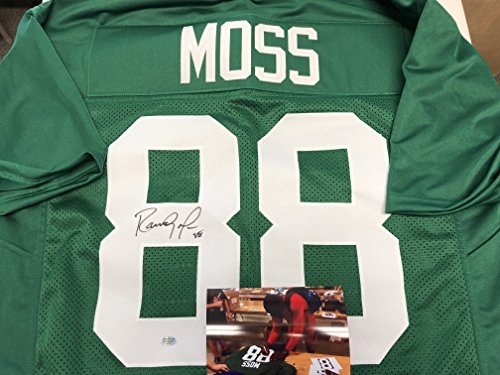 Randy Moss Collectibles (Randy Moss Autographed Signed Marshall Rare College Custom Jersey Hologram & Coa Card W/Photo From Signing)