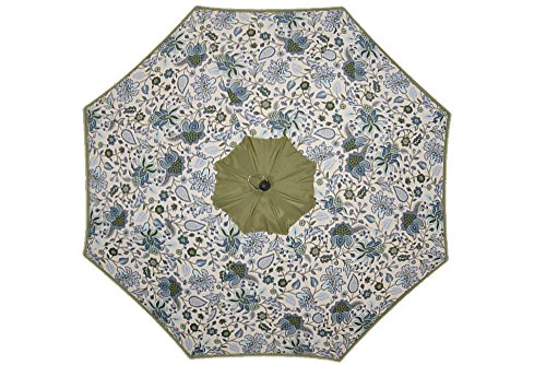 8.25 Ft. Patio Umbrella Floral Print Jaclyn Smith Elmhurst