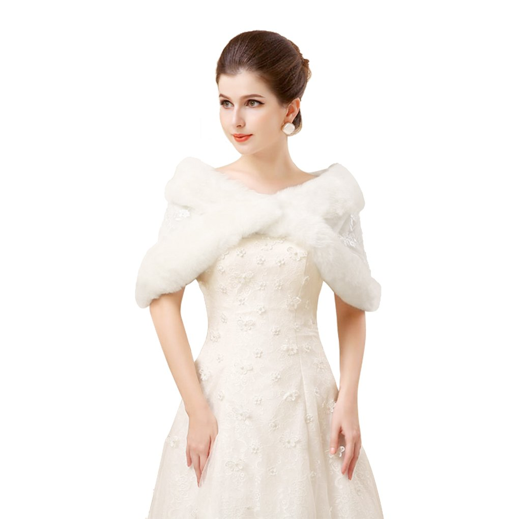f354a4a56 Fakeface Winter Faux Fur Coats Capelets Shawls Embroidery Bridal ...