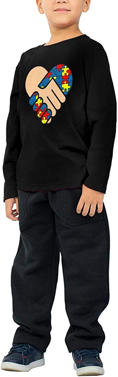 Childrens Autism Love Hand Shake ComfortSoft Long Sleeve Shirt
