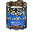 General Finishes AH Gel Stain, Half pint, Antique Walnut