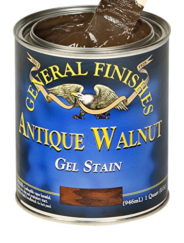 General Finishes AQ Gel Stain, 1 quart, Antique Walnut ()