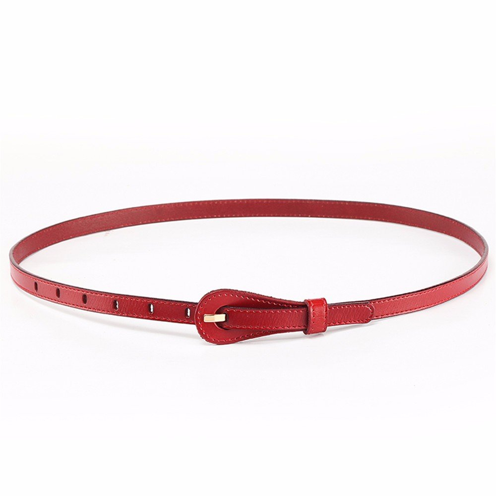 SAIBANGZI Ms Women All Seasons Belt Fine Leather Decorative Fashion Women'S Belts Girlfriend Present Red 80-95Cm