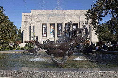 Photograph | Showalter Fountain, the centerpiece of the Fine Arts Square on the campus of the Indiana University in Bloomington| Fine Art Photo Reporduction 44in x ()