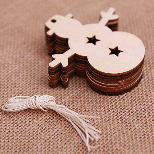 Pendant Drop Ornaments - 10pcs Lot Ball Snowman Tree Pattern Diy Wooden Pendants Ornaments Party Supply Xmas - Christmas Rhythmic House Green Dolls Deer Decorations Snowflakes Christma Small -