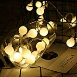 Nufelans_String Light 2.5M 20LED Fairy Lamp for Window Curtain Lights String Lamp Decorative Lights for Party Outdoor (Warm White)