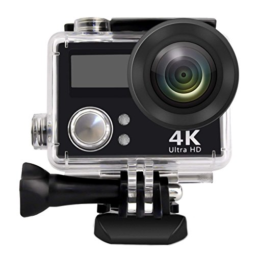 PowMax WW-54 Waterproof Action Camera 4K WiFi Waterproof Sports Camera 170° Ultra Wide-Angle Len with Rechargeable Batteries and Portable Package