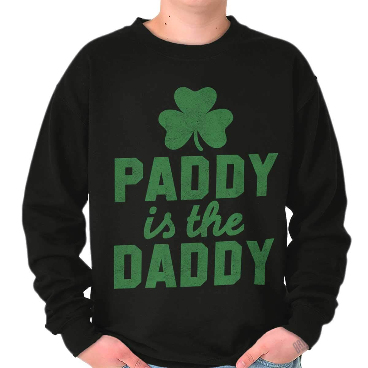 06bf8cdb2 Amazon.com: Brisco Brands Paddy Daddy Funny St Patricks Day Drinking Crewneck  Sweatshirt: Clothing