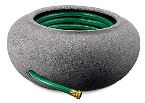 Garden Pot Hose Outdoor - Akro Hose Pot Black Granite