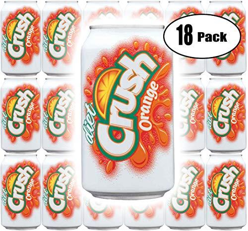 Diet Orange Soda - Diet Crush Orange Soda, 12 Fl Oz Cans (Pack of 18, Total of 216 Fl Oz)