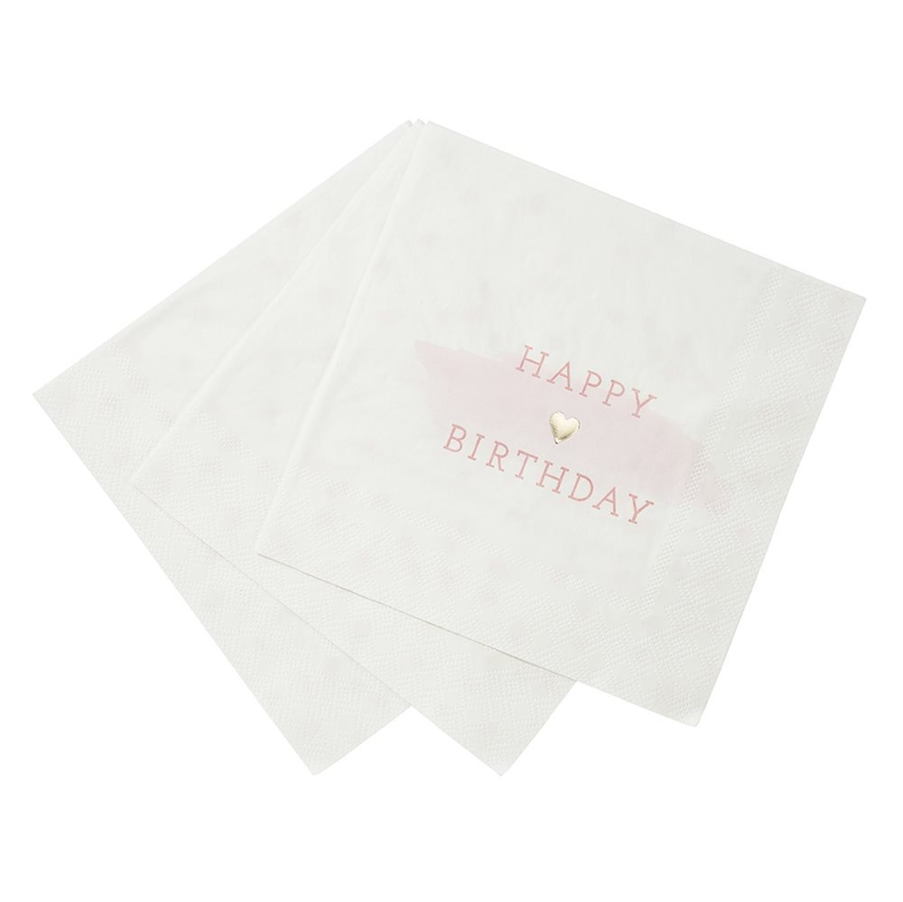 Talking Tables We Love Pink Happy Birthday Party Bundle | Designer Plates, Napkins, and Cups by Talking Tables (Image #4)
