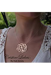 14k Rose Gold-filled Personalized Script Initials Necklace - Monogrammed Letters -