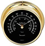 Maximum Weather Instruments Mini-Max Thermometer – Brass case, Black dial