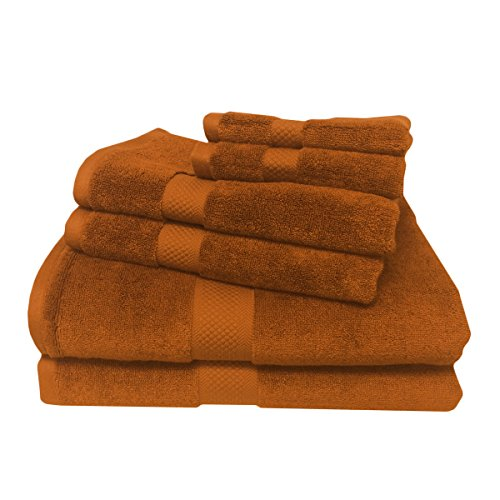 Best Royal Hand Towels - Royal Tradition 6PC Bamboo-Blend Towel Set