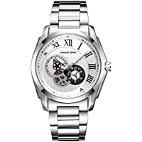 PRINCE GERA Men's Watch Big Face Water Resistant Wrist Watch(Sliver/White Dial)