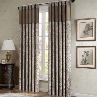 Madison Park Aubrey Rod Pocket Curtain Panel Pair (Brown), ()