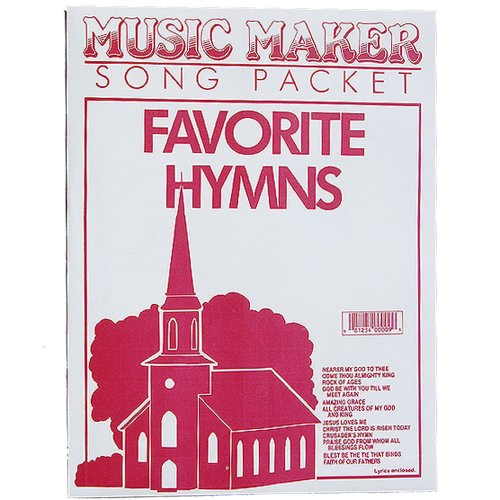Favorite Hymns #1 music for the Music Maker by European Epressions - Music Maker Song Sheets