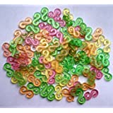 200 Rainbow Colored S Clips