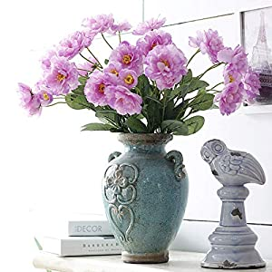 happyday04 2 Heads Artificial Silk Rosemary Flowers Wedding Home Decoration Fake Flower 106