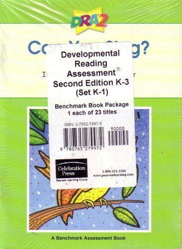 Developmental Reading Assessment Second Edition K - 3 (Set K - 1): Benchmark Book Package of 23 Different Titles pdf