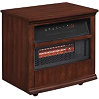 Twin Star Portable Infragen Smart Heater with Safer Plug and Safer Sensor, Walnut Brown