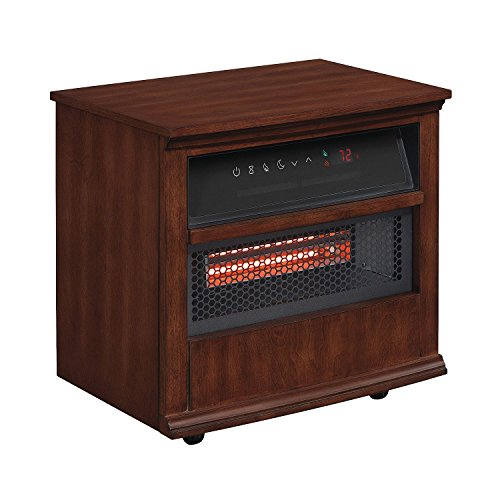 Twin Star Portable Infragen Smart Heater with Safer Plug and Safer Sensor, Walnut Brown Infrared Heaters