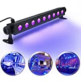 UV LED Black Light Bar, Elfeland 9LED x 3W Metal Housing Wall Wash Light Disco Light for Dark Effect Stage Fluroscent Party Halloween Club