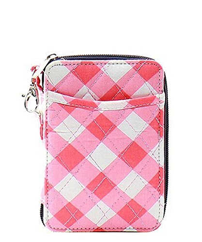 Gingham Quilted Mini Wallet...