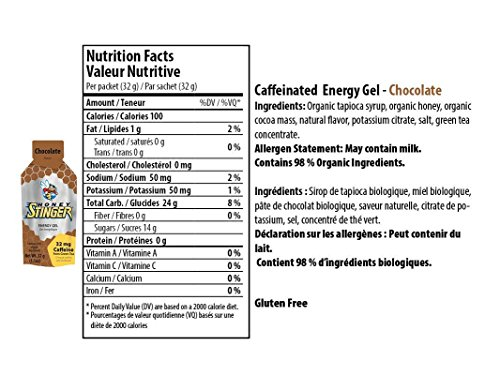 Honey Stinger Organic Energy Gel - Chocolate (6 x 1.1oz Packs)
