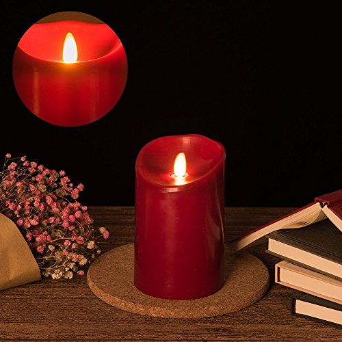 Acando LedCandleBattery Operated Flameless Candles 5 Inch Tall X 3.5