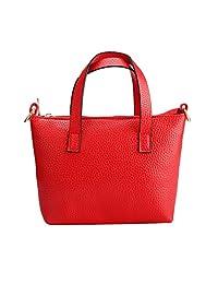 Bessky® Mini Women Girl Leather Messenger Shoulder Bag Satchel Tote Handbag (Red)