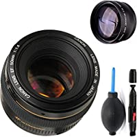 Canon 50mm 1.4 Portrait Lens + High Definition Telephoto Auxiliary Lens + Deluxe Lens Cleaning Pen + Deluxe Lens Blower Brush