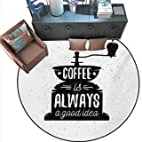 Barnwood Coffee Table Ideas Quote Round Floor Cover Coffee Maker Silhouette Coffee is Always a Good Idea Grungy Typography Door mat Indoors Bathroom Mats Non Slip (63