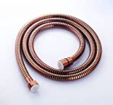 Angle Simple L4150 Stainless Steel 59-Inch All Metal Interlock Shower Hose, Rose Gold