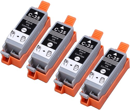 4 Pack Compatible Canon PGI-35 4 Black for use with Canon PIXMA iP100l, PIXMA mini260, PIXMA mini320, RFB IP100. Ink Cartridges for inkjet printers. PGI-35-BK / 1509B002 © Blake Printing Supply