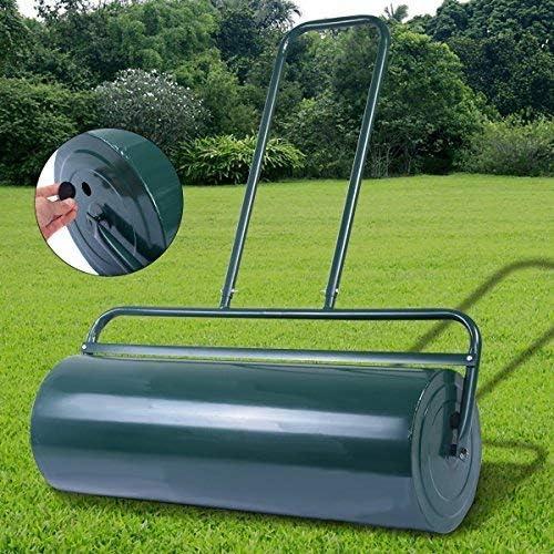 Costway - Rodillo para césped de acero resistente - Rellenable con agua o arena - 63 L: Amazon.es: Jardín