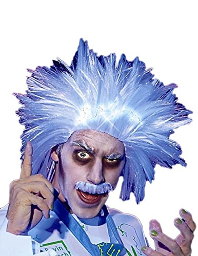 Provocative Mens Costumes (Sunset Intimates Electronica Lite Up Wig & Mustache, White)