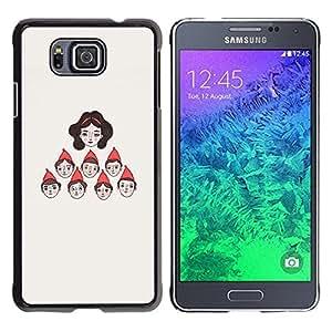 Be Good Phone Accessory // Dura Cáscara cubierta Protectora Caso Carcasa Funda de Protección para Samsung GALAXY ALPHA G850 // Character Seven Princess