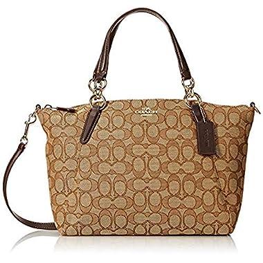 Coach Signature Small Kelsey Satchel Shoulder Bag Handbag a393a3b1fc6e7