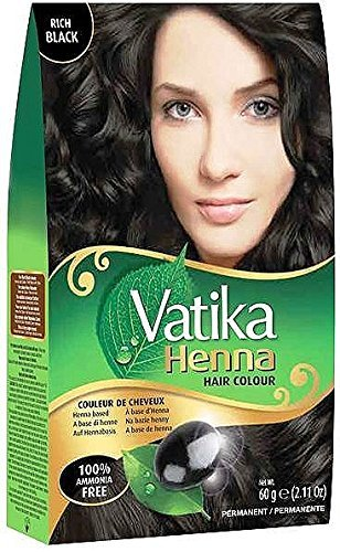 Amazon Com Vatika Henna Hair Color Rich Black Ammonia Free 60 G