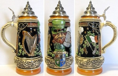 Ireland LE German Beer Stein .5L Irish Theme One Mug Made in Germany New by Pinnacle Peak Trading Company